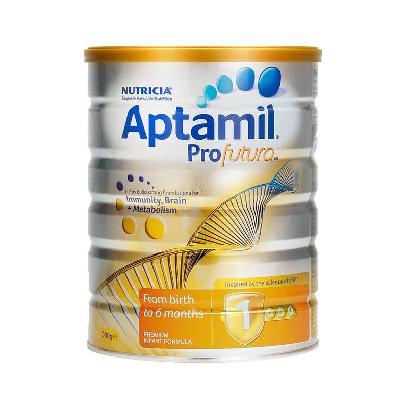 【每日推荐】澳洲爱他美白金版Aptamil婴幼儿配方奶粉 1段 (0-6个月)900克  新旧版随机